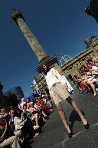 Newcastle Fashion Week 2012 at Grey's Monument