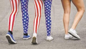 American flag is a fashion statement