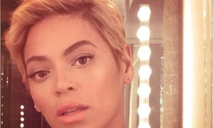 Beyoncé's new haircut in short style