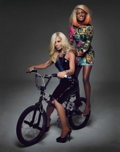 M.I.A. and Donatella Versace